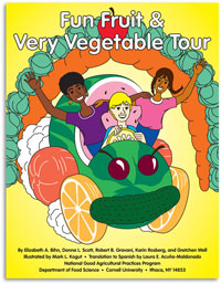 Fun Fruit & Very Vegetable Tour Coloring Book Cover