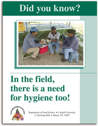Did you know? In the Field there is a need for hygiene too! cover