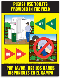 Laminated Toilet Use Facilities Poster